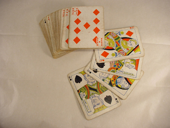 Cards, pack of Victorian playing cards. [Click here to open image in popup]