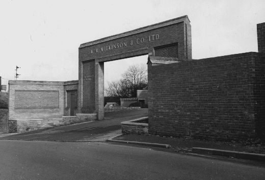 W. R. Wilkinson & Co Ltd factory entrance, off of Ferrybridge Road, Pontefract. [Click here to open image in popup]