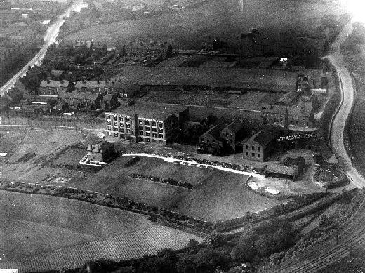 Ariel view of W. R. Wilkinson & Co Ltd liquorice factory, Pontefract. [Click here to open image in popup]