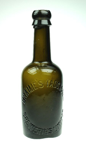 Beer bottle advertising 'Braime's Tadcaster Breweries Limited'. [Click here to open image in popup]