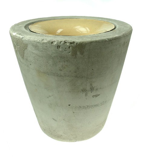 Plaster mould with a metal inner for making a tall vase. This mould was collected from Clokie and Co. Ltd. after the pottery closed in 1961. [Click here to open image in popup]